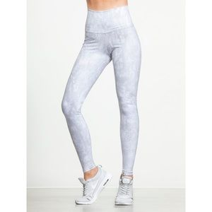 Alo Yoga Vapor Python Glossy Full Length Leggings
